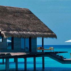"""A villa at <a href=""""http://reethirah.oneandonlyresorts.com/"""">One & Only Reethi Rah</a> in the Maldives, the choice of Fergie and Josh Duhamel."""