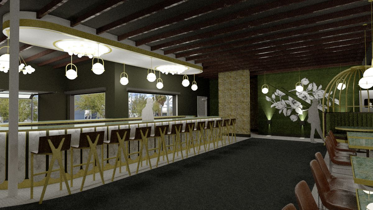 A new LGBT bar rendering in the Arts District