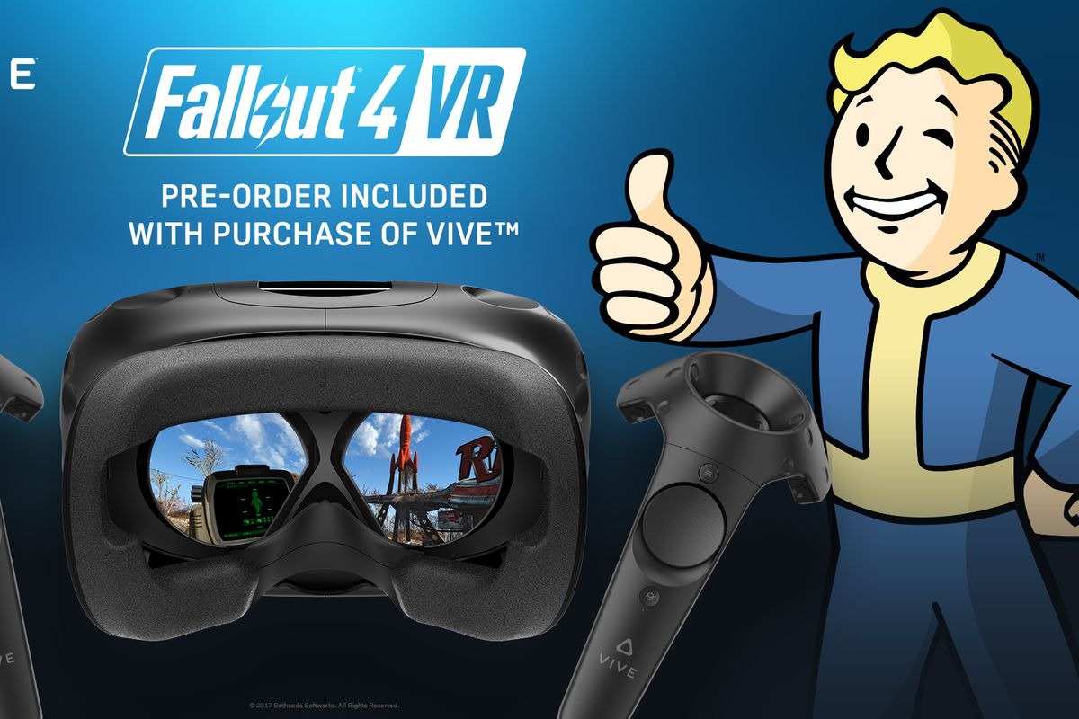 new htc vive buyers are getting a free fallout 4 vr preorder code