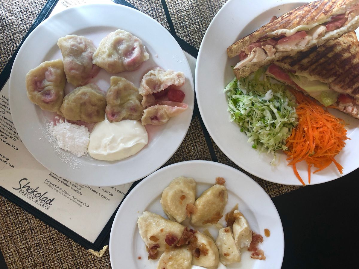 "Ukrainian pierogi or ""varenyky"" at Shokolad Restaurant in Ukrainian Village. | Ji Suk Yi/ Sun-Times"