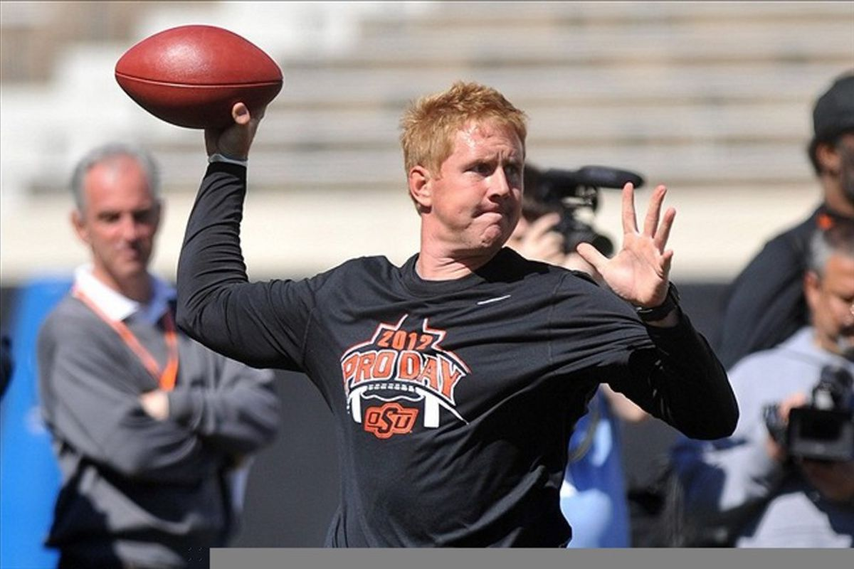 This isn't Wes Lunt. This is who I hope Wes Lunt can outplay.