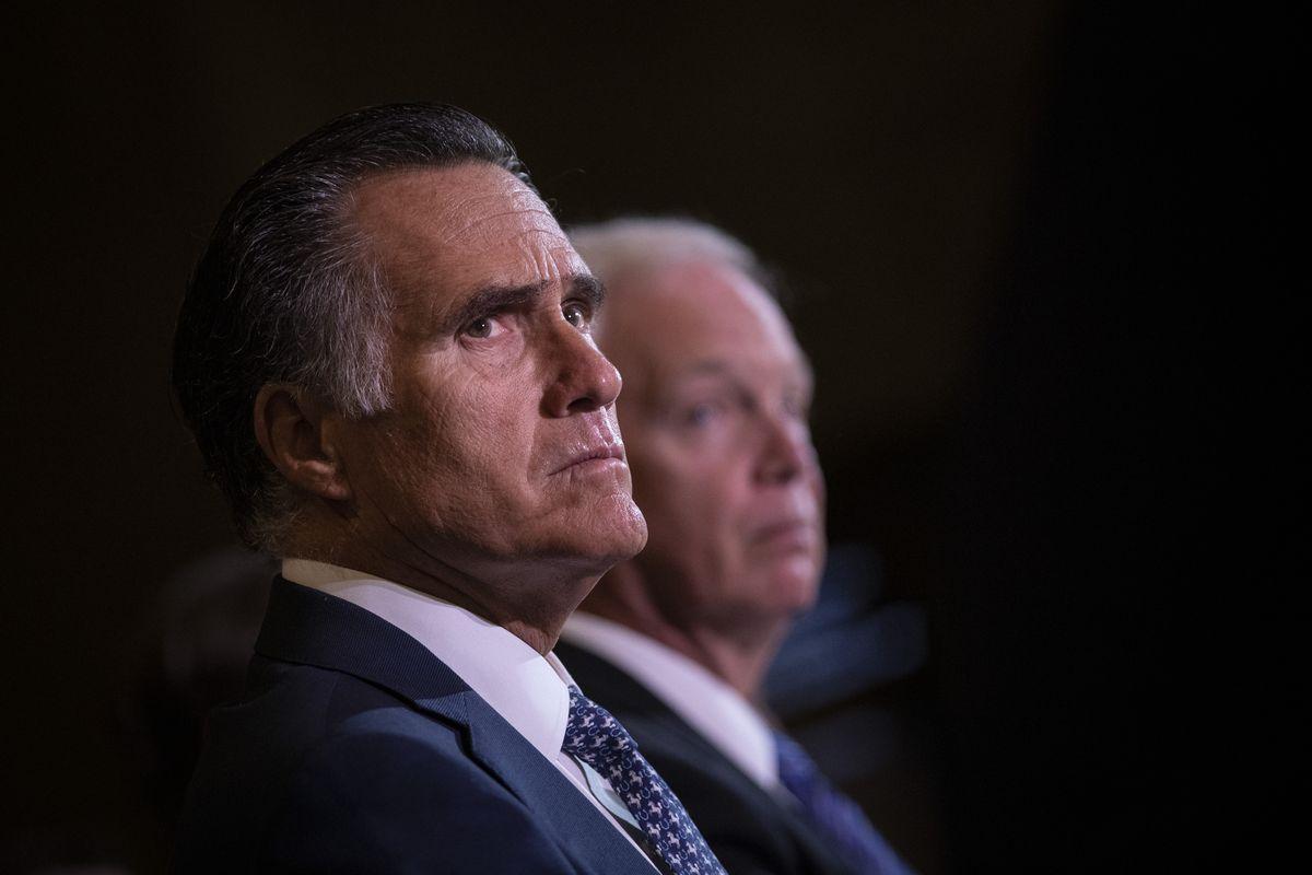 Senators Mitt Romney and Ron Johnson.