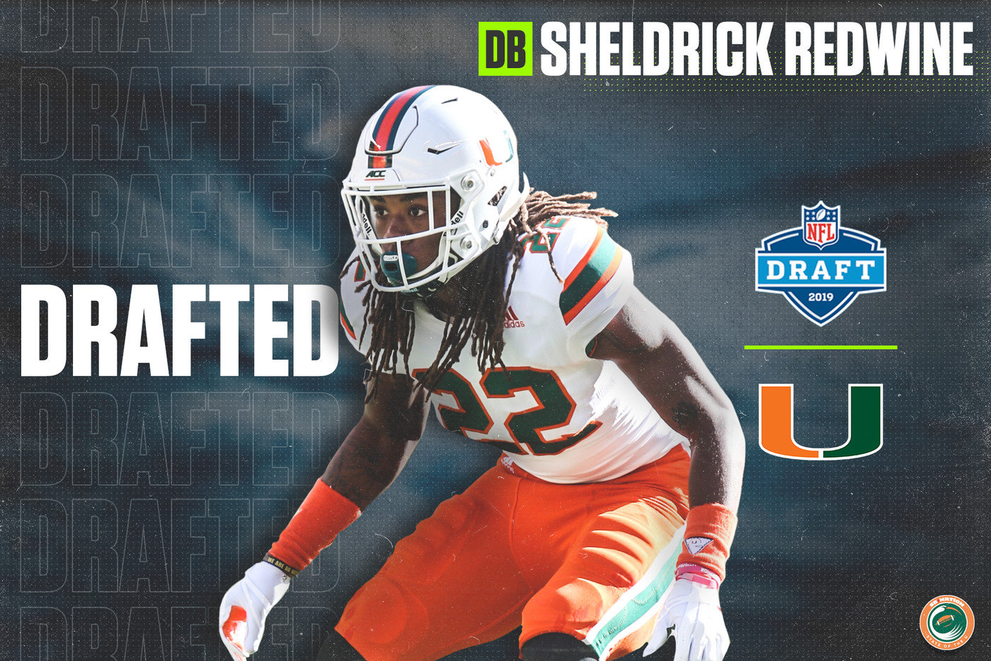 wholesale dealer 165f1 b1e7c 2019 NFL Draft: Miami DB Sheldrick Redwine Selected by the ...