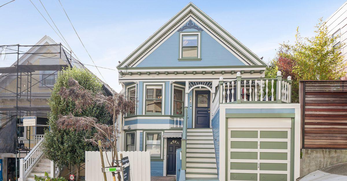 Live inside this baby blue Glen Park Victorian asking $1.39M