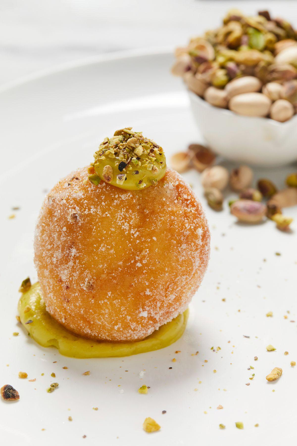 A pistachio doughnut from Toscana Market