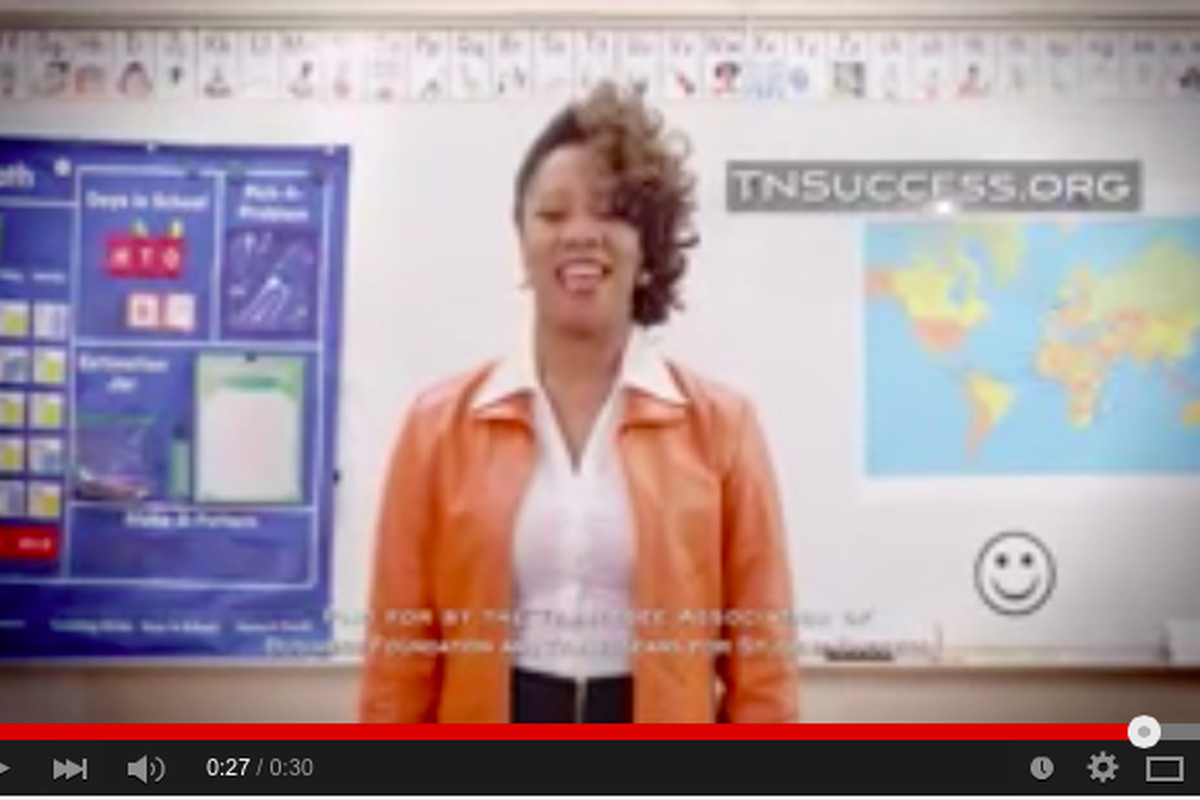 """A 30-second commercial created by a Nashville-based nonprofit educational advocacy group says it features """"real Tennessee moms"""" calling for """"results not rhetoric,"""" including higher academic standards, more accountability and more choices for parents."""