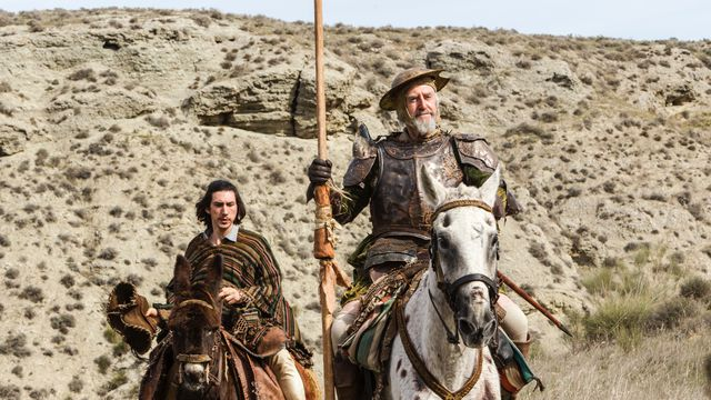 Adam Driver and Jonathan Pryce as Toby Grisoni and Javier in <em>The Man Who Killed Don Quixote</em>.