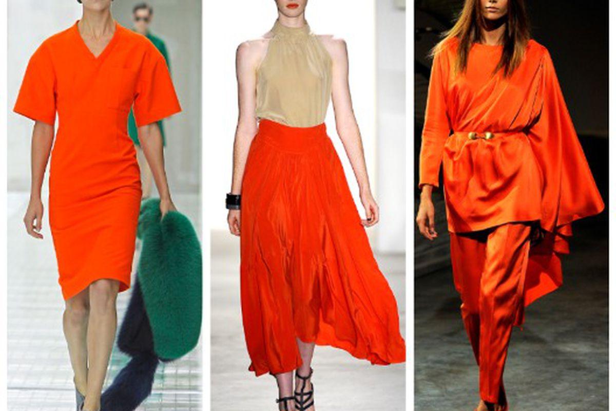 """Spring 2011 looks from (l-r): Prada, Vena Cava, Halston. Images via <a href=""""http://Style.com"""">Style.com</a>"""