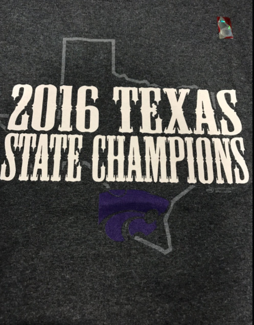 9f3440da Oh look, Kansas State made 'Texas state champs' t-shirts again ...