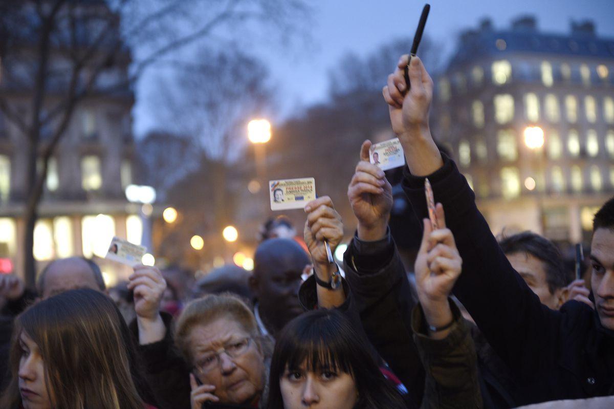 journalists Hebdo rally