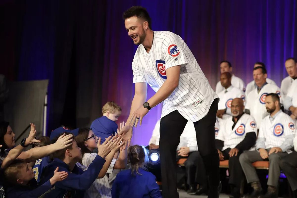 Cubs third baseman Kris Bryant greets fans during the team's annual convention last month.