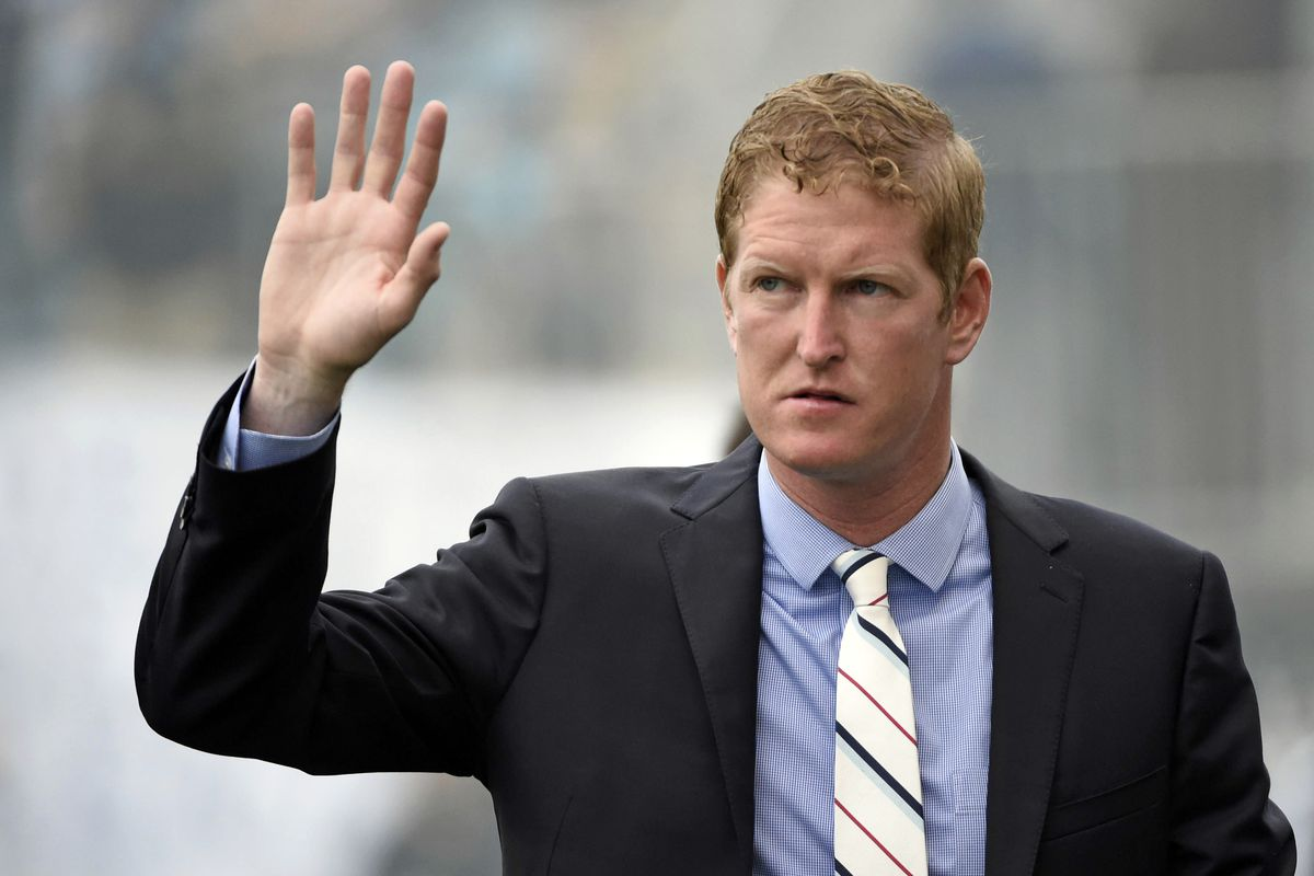 A wave, but no smile. Jim Curtin has had little reason to smile of late.