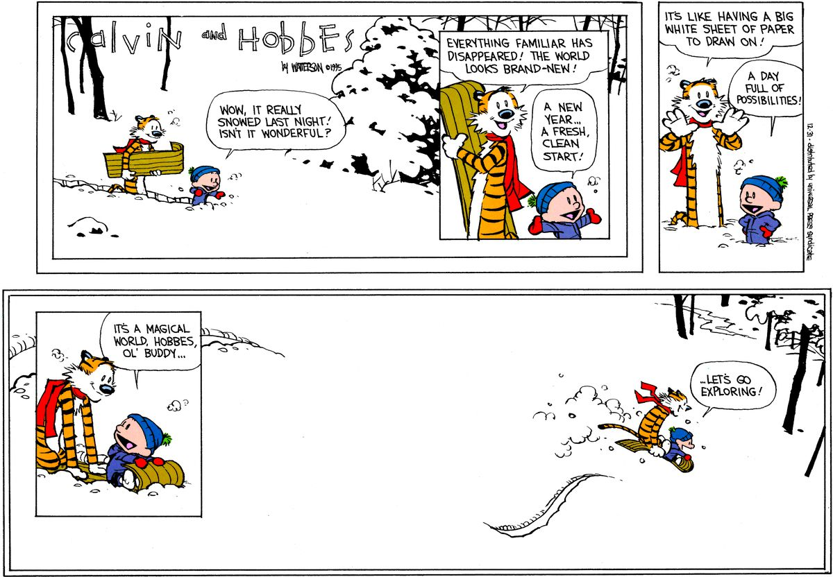 The final Calvin and Hobbes.