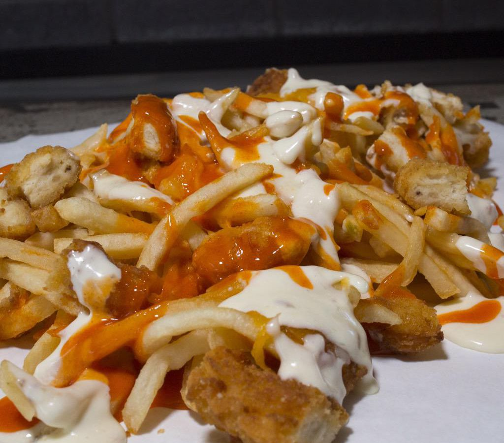 The Buffalo Chicken Cheese Fries from Fat Sal's restaurant in Los Angeles.
