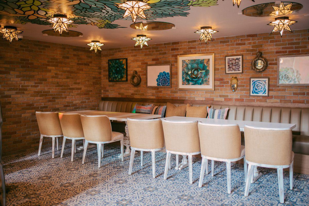 Private dining room at Karina's Cantina