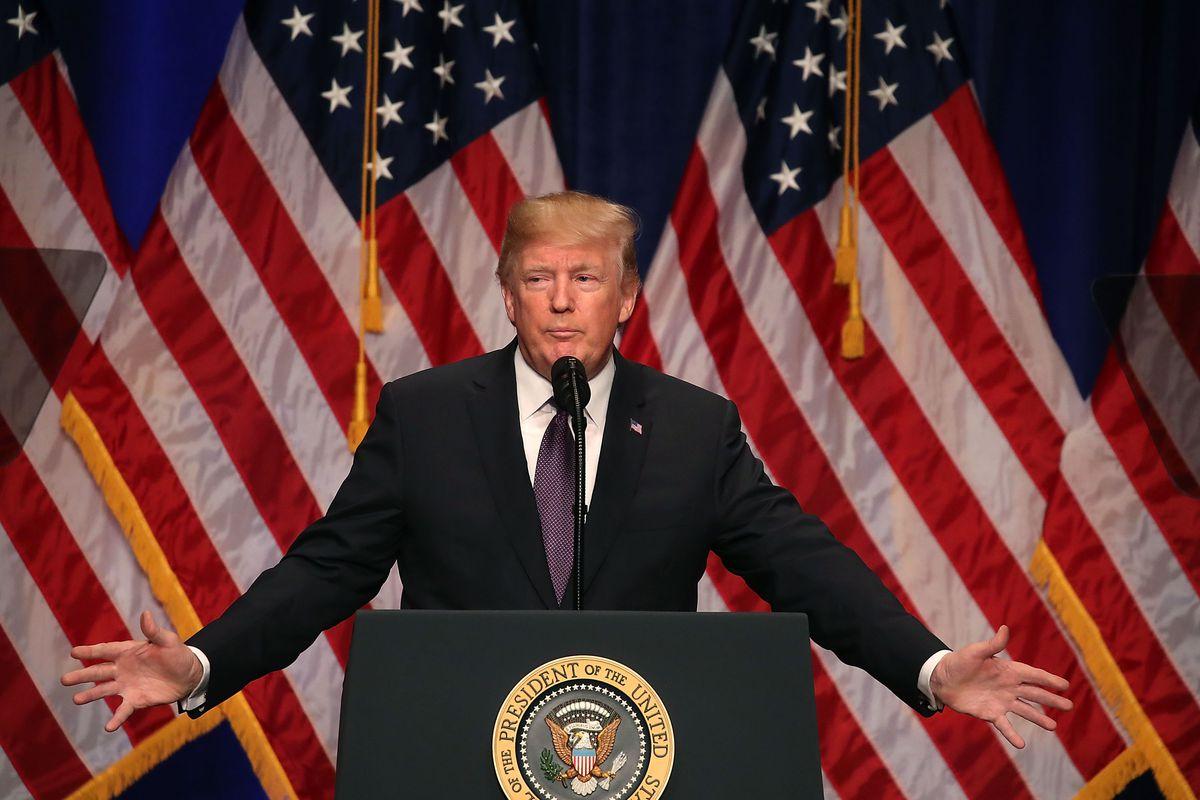Hasil gambar untuk President Trump proclaimed this week as National Flag Week