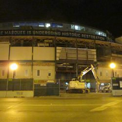 5:58 p.m. The front of the ballpark -