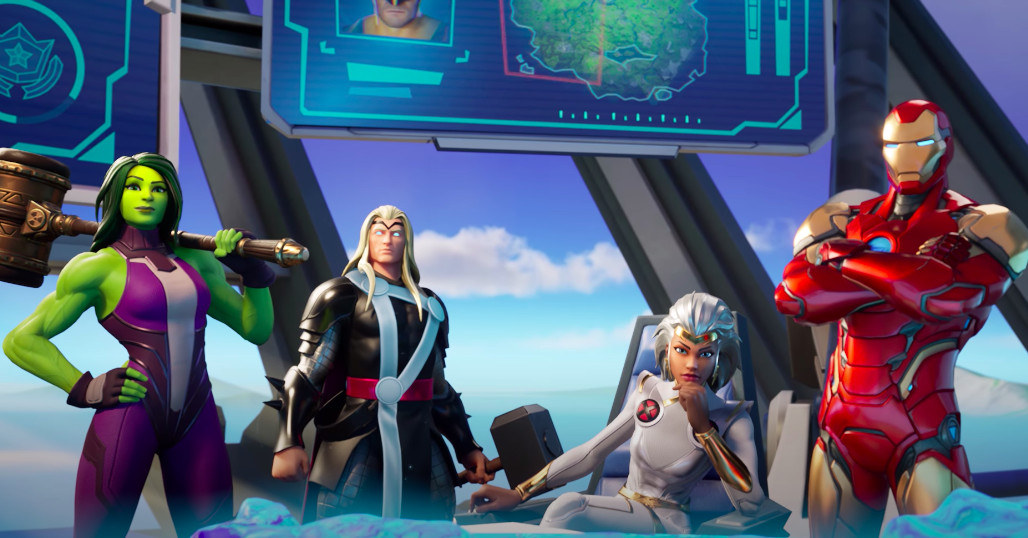 Fortnite Chapter 2 Season 4 Pits Marvel S Biggest Heroes Against Galactus The Verge