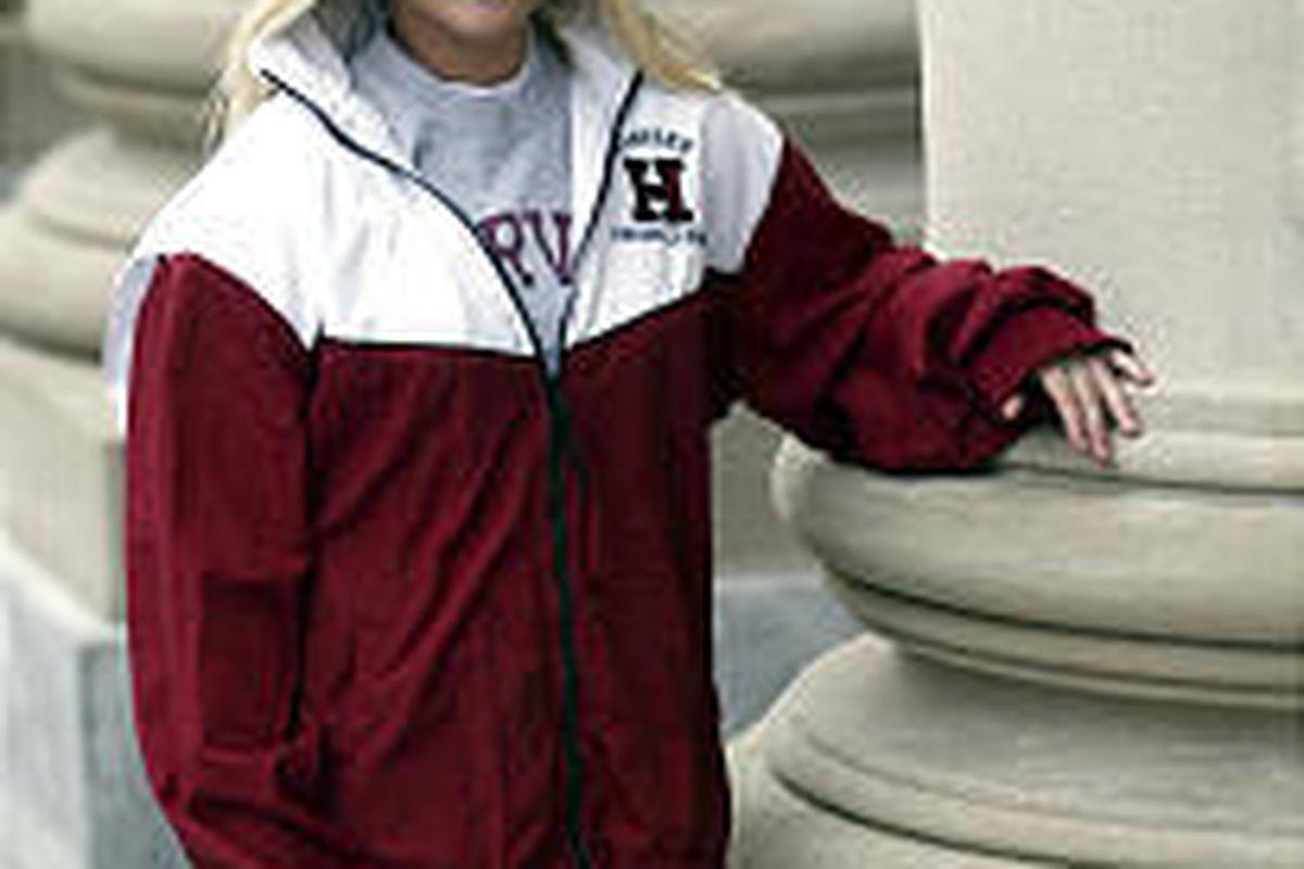 Tulane freshman Amy McClendon ended up at Harvard after Hurricane Katrina and wants to stay.