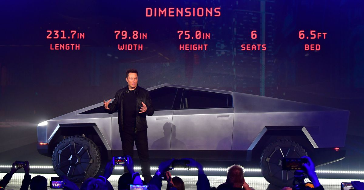 Elon Musk Unveiled Tesla's New Truck And It's... Uh... Really Something