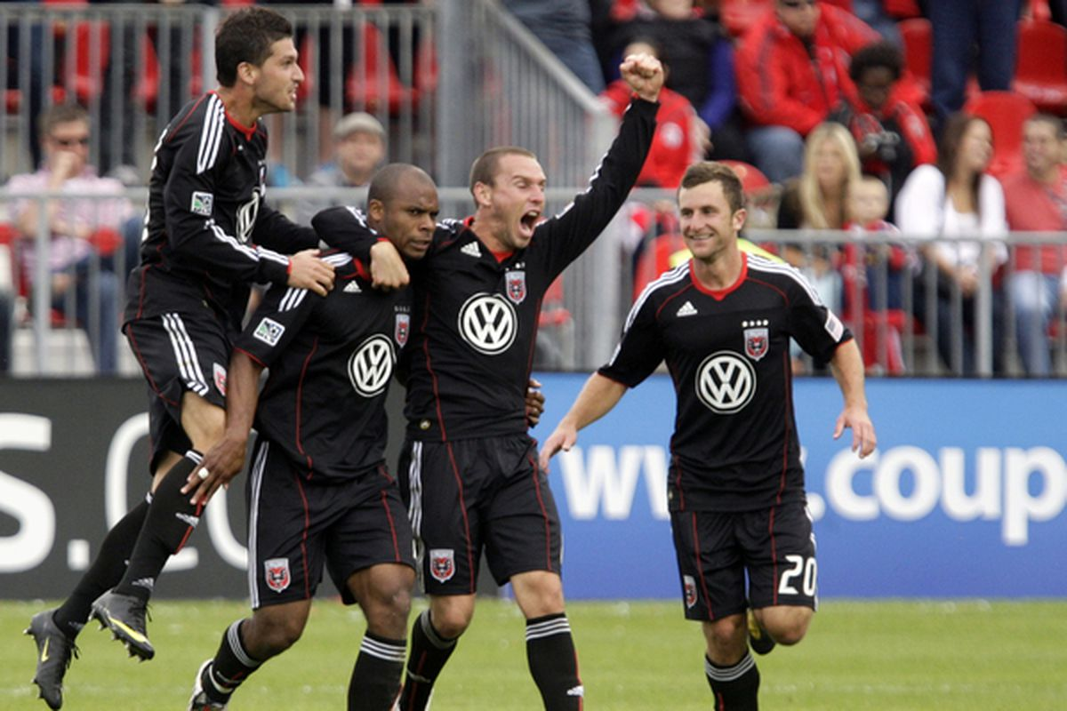 Great moments of TFC vs DCU past. Julius James celebrates. Mo and Preki start packing.