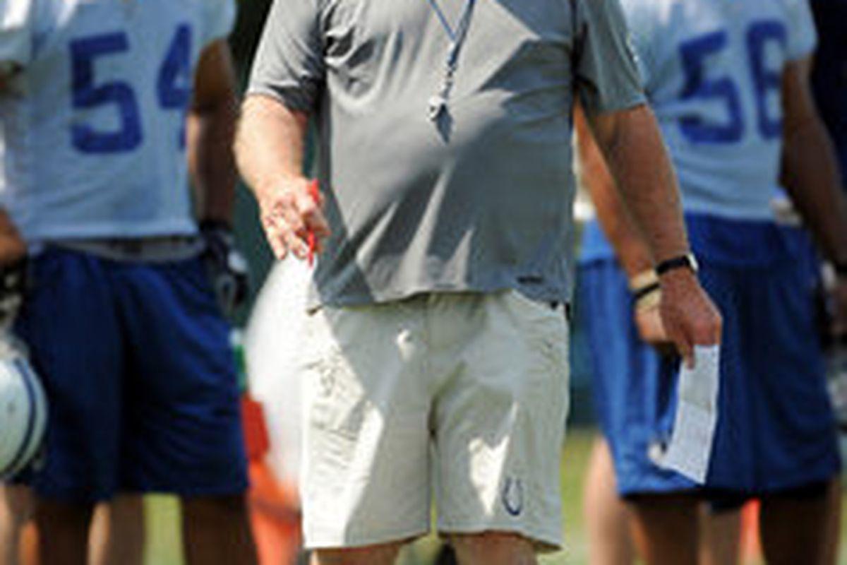 "Colts defensive coordinator Larry Coyer. Image: <a href=""http://photos.indystar.com/photos/2009/6/2/273808/show.jpg"">photos.indystar.com</a>"