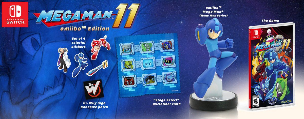 mega man 11 coming this october alongside a new amiibo