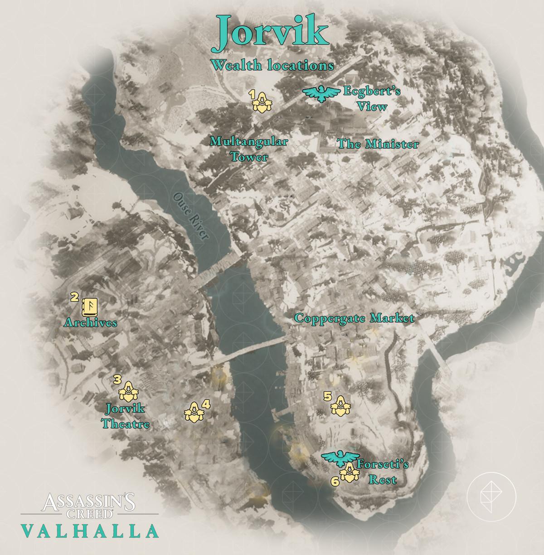 Jorvik Wealth locations map