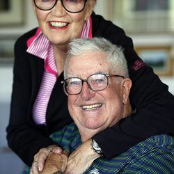 Frank and Barbara Layden pose for a portrait at their home in Salt Lake City Tuesday, June 3, 2014.