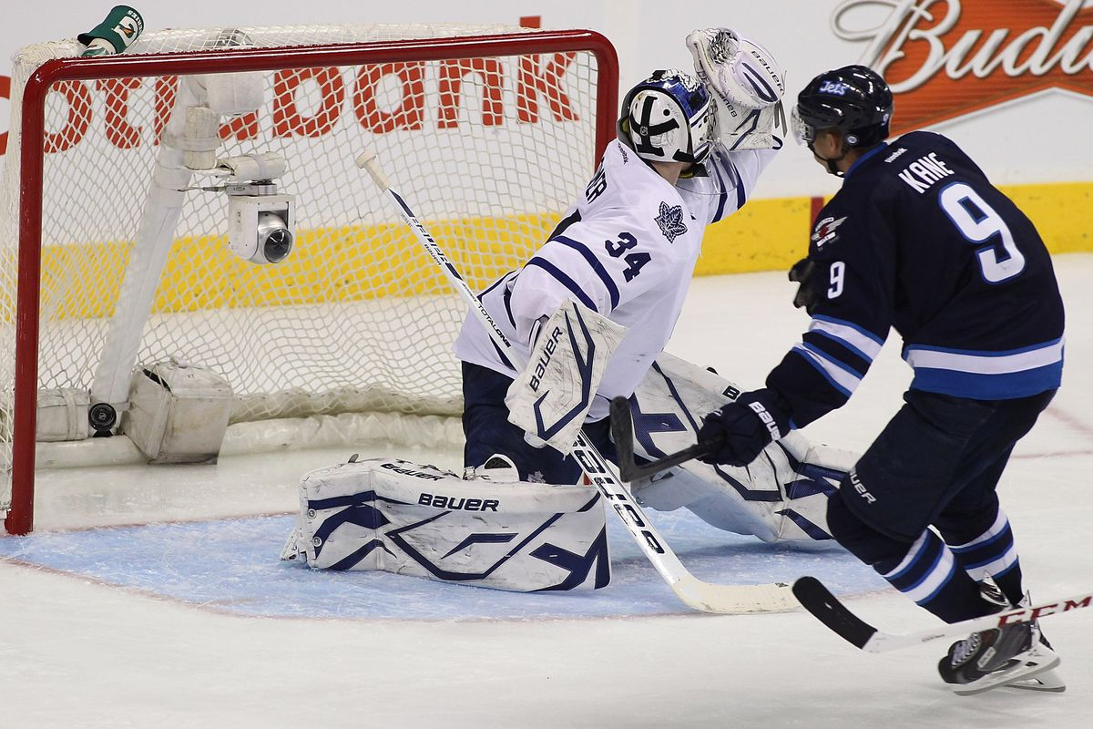 If Reimer were any more hung out to dry on this goal, there would be a clothespin shoved in his back.