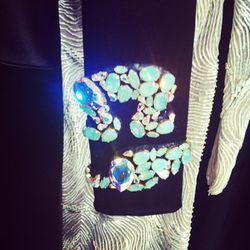 We had to zoom in on the stellar Swarovski Elements sleeves on this Marios Schwab gown.