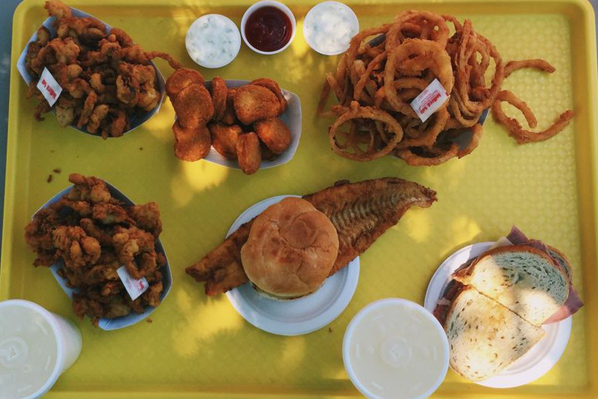 A fried feast at Bagaduce Lunch in Penobscot.