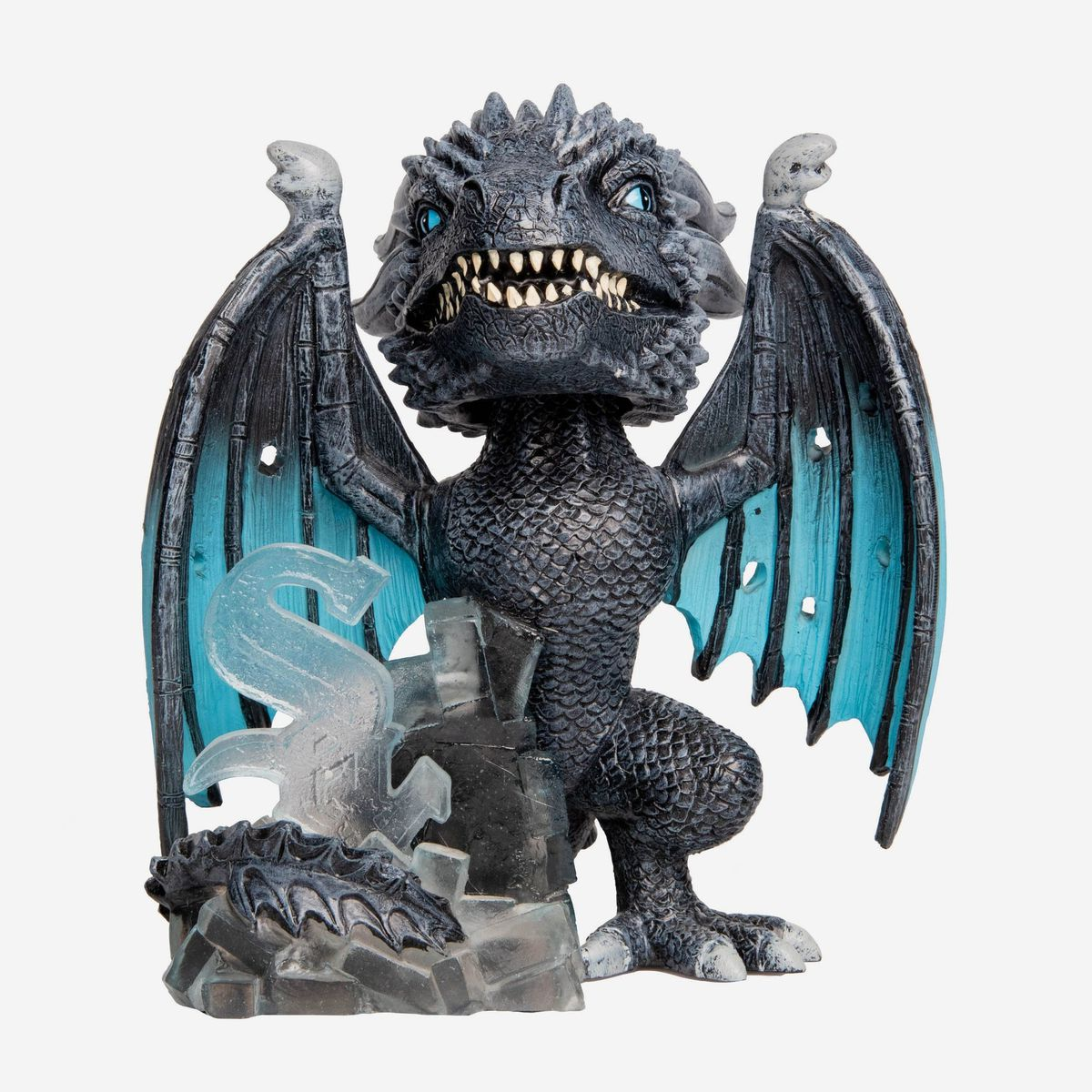 """The White Sox/Ice Dragon """"Game of Thrones"""" bobblehead.   Copyright HBO"""