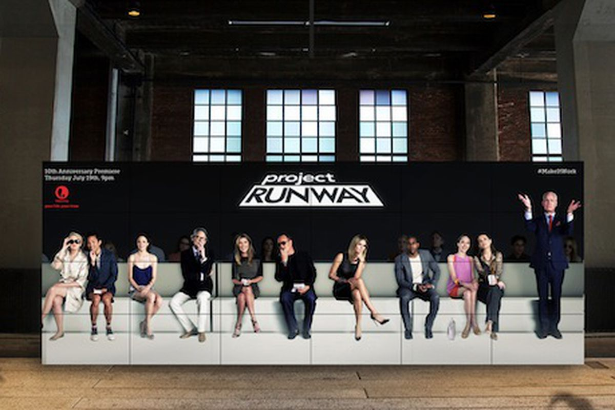 Project Runway's holograph on the Highline