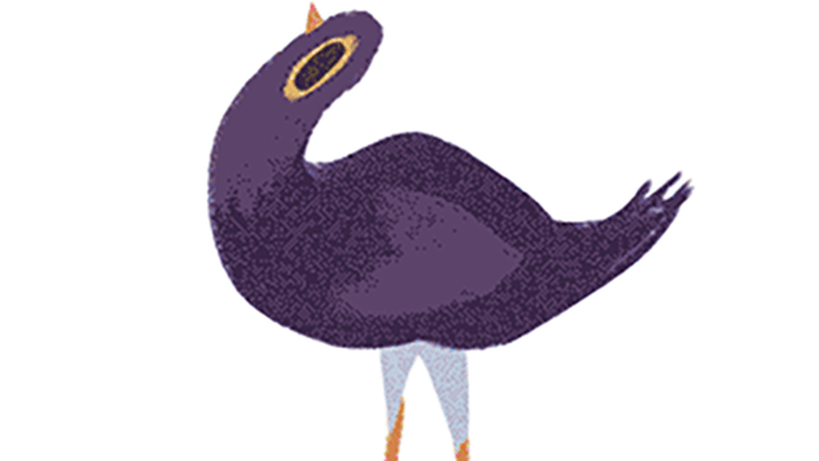 This very distressed purple bird is derailing conversations across Facebook
