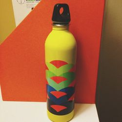 My favorite reusable water bottle. I carry this everywhere, keeping me hydrated and energized. Plus, I love anything that is brightly colored.