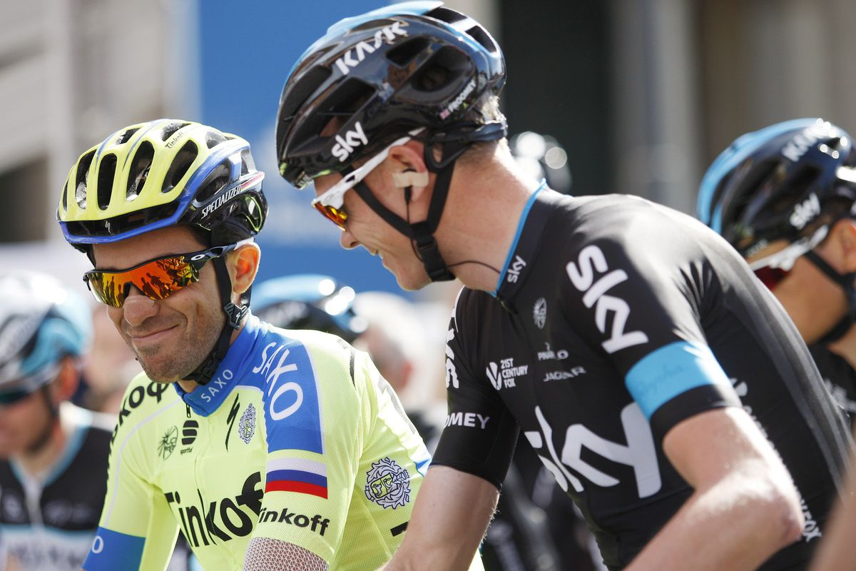 Contador and Froome at Netherlands Coast