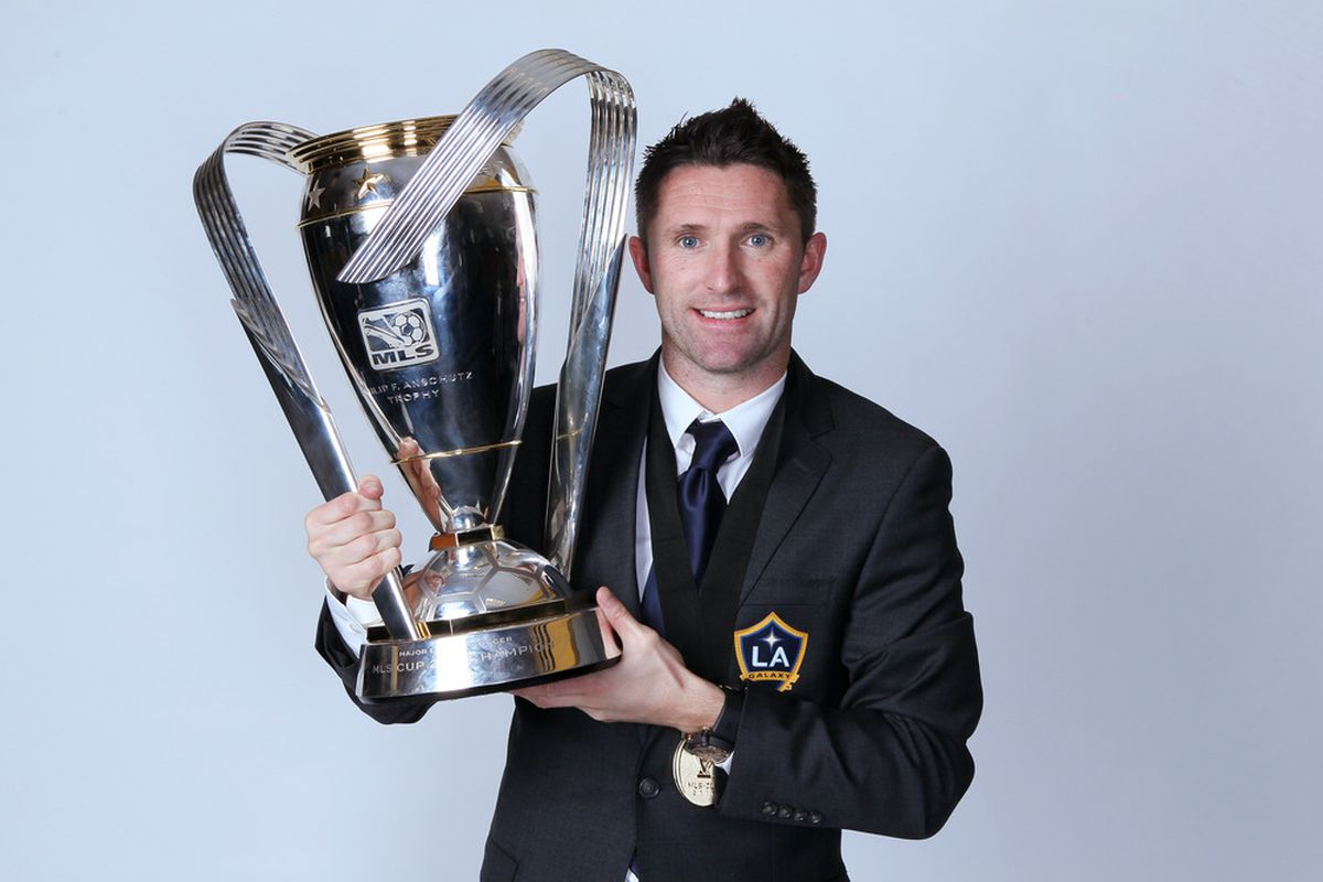 CARSON, CA - NOVEMBER 20:  Robbie Keane #14 of the Los Angeles Galaxy poses for a portrait following the 2011 MLS Cup at The Home Depot Center on November 20, 2011 in Carson, California.  (Photo by Jeff Gross/Getty Images)