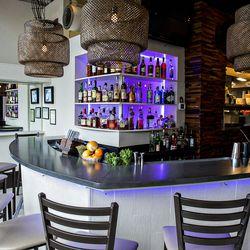 The bar at Tom Tom.