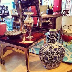"""Because your home needs a little love too! Located right outside the city in Oak Park, <a href=""""http://www.divineconsign.com/"""">Divine Consign </a>specializes in high-quality designer furniture and home furnishings. Wrought iron coffee tables, mirrored dre"""