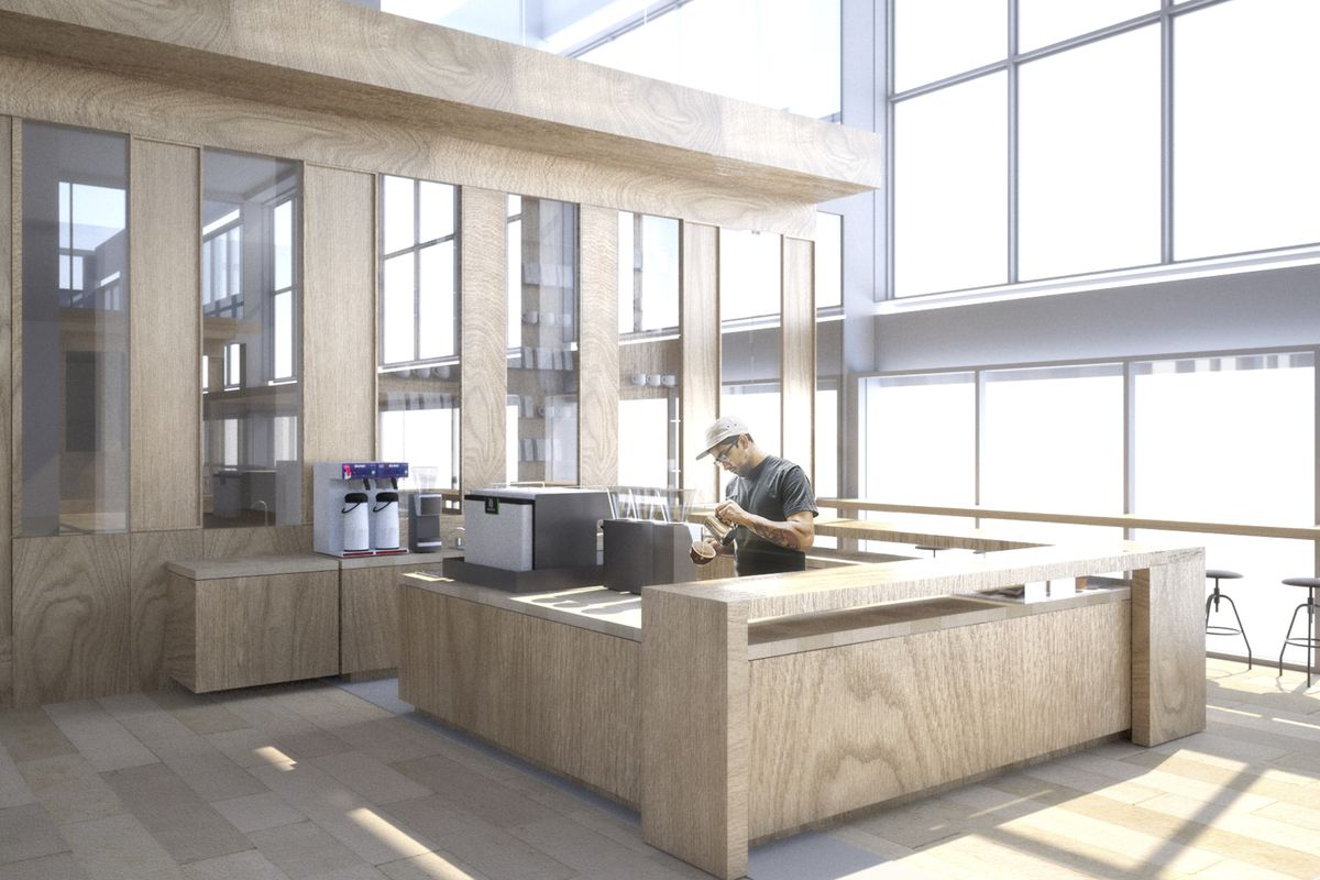 Renderings of the fourth Ristretto Roasters