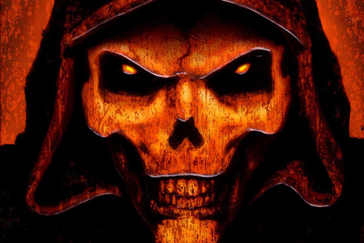 The skull logo for Diablo 2