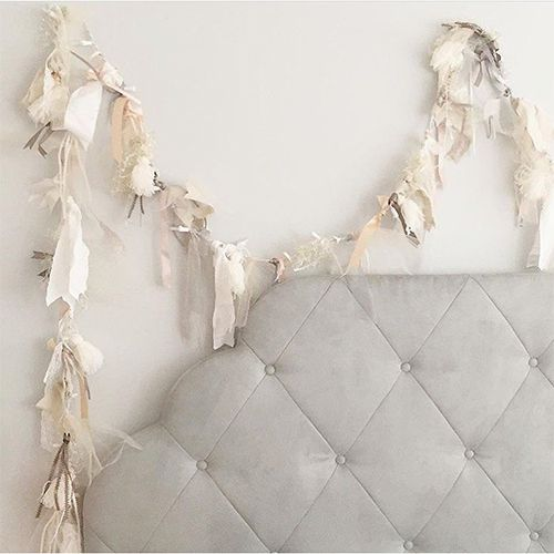 tassels with string lights