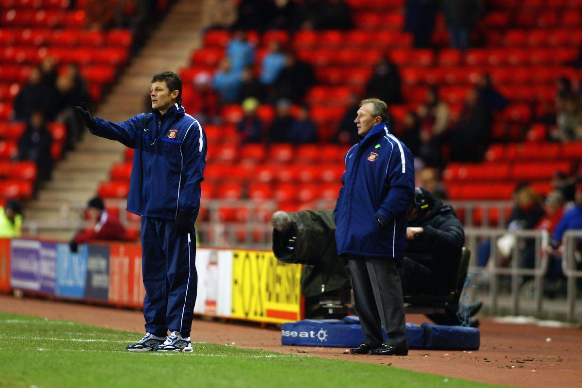 Sunderland assistant manager Steve Cotterill and manager Howard Wilkinson