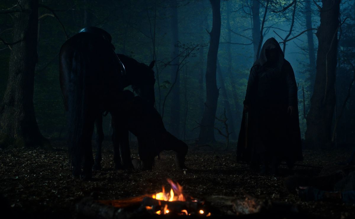 CURSED (L TO R) DANIEL SHARMAN as THE WEEPING MONK in episode 102 of CURSED Cr. Netflix � 2020