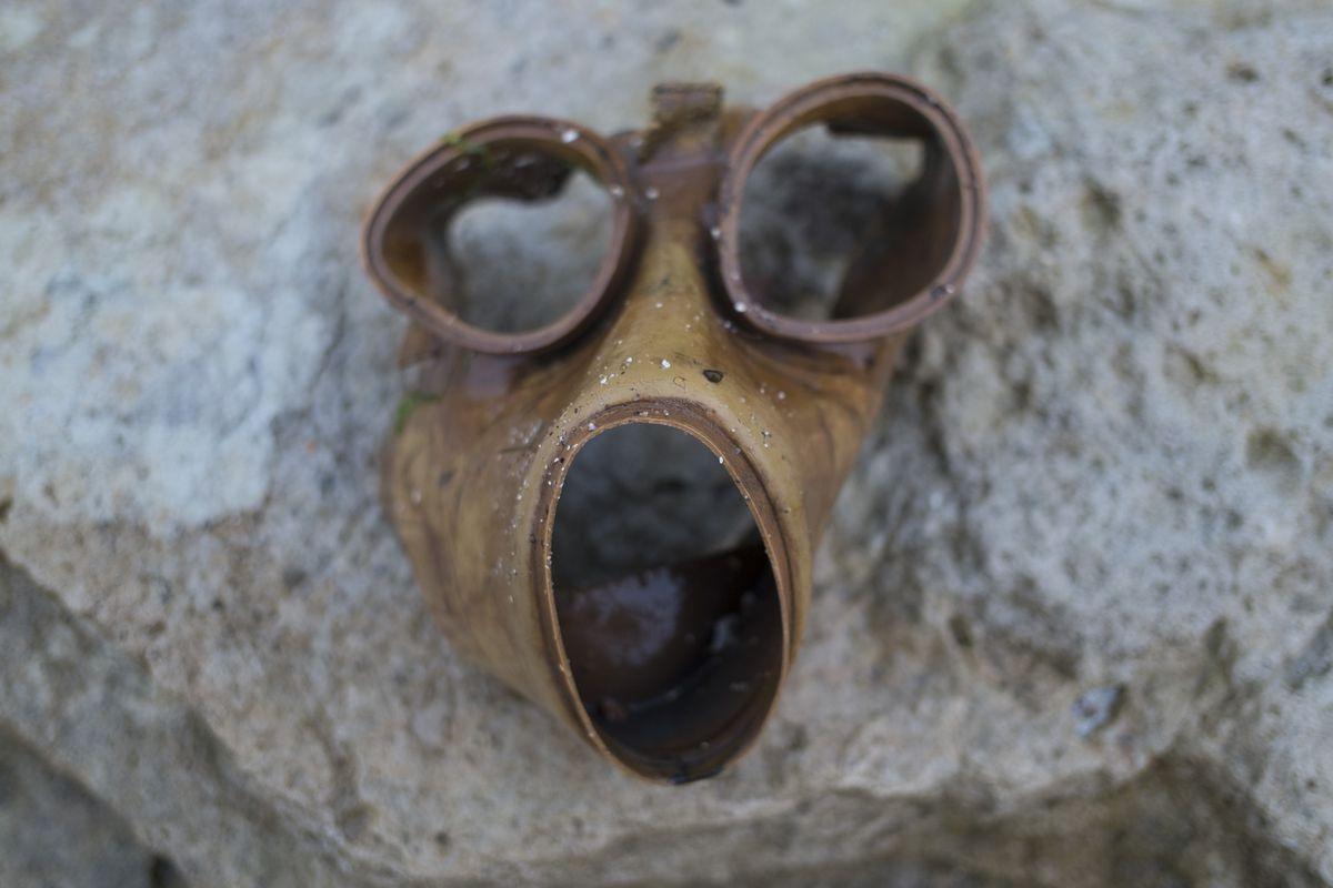 Washed Up Gas Mask
