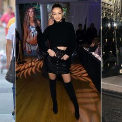 When she's not on a red carpet (a place where even a sheer catsuit is fair game if you're a Hadid), Gigi smartly combines revealing or skintight pieces with slouchy or structured ones to keep everything balanced.