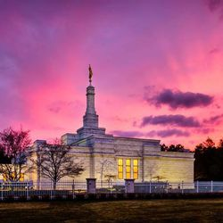 Scott Jarvie is on a mission to capture and compile pictures of every LDS temple in the United States. The Detroit Michigan Temple is pictured here.