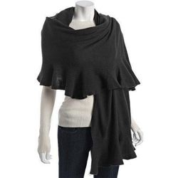 """<strong>Magaschoni</strong> Cashmere Ruffle Wrap at North River Outfitter, <a href=""""http://www.northriveroutfitter.com/magaschoni-cashmere-ruffle-wrap/#"""">$348</a>"""
