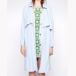 """Chambray Trench, <a href=""""http://www.pixiemarket.com/chambray-trench.html"""">$193</a> at Pixie Market"""